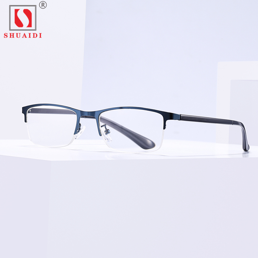 58ddb654ce Men Women Reading Glasses Mens Metal Half Frame Resin Lens Readers  Eyeglasses +1 1.5 2 2.5 3 3.5 4 Diopter with Case-in Reading Glasses from  Apparel ...
