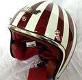 motocross helmets MASEI ruby vintage helmet half helmet open face helmet ABS casque motocross 501 Red