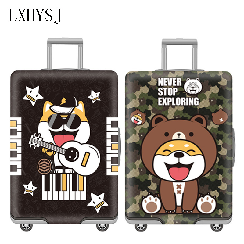 Luggage Cover Elastic Luggage Protective Covers Thicken Suitcase Dust Cover Used For 18-32 Inch Suitcase Case Travel Accessories