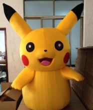 New Adult Child Pikachu mascot fancy dress costume