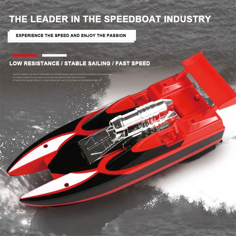 Скоростная лодка гоночная лодка на дистанционном управлении лодка пластиковая многоцветная Rc речная бассейн на открытом воздухе модная скоростной катер р/у гоночная игрушка