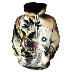 Image 3 - Ilkbahar/yaz yeni erkek hoodie dragon topu baskılı hoodie kazak erkekler uzun kollu rahat hoodie