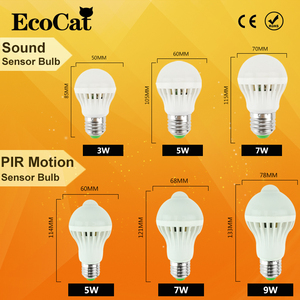 Image 2 - Diodo emissor de luz da noite e27 3w 5 7 9 12 220v lâmpada led pir infravermelho movimento/som + sensor de luz controle detecção de corpo automático