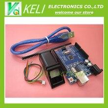 Бесплатная доставка 2 шт. = 1 шт. FPM10A Отпечатков Пальцев Модуль для arduino оптический датчик отпечатков пальцев + 1 шт. ООН R3 MEGA328P с usb кабель