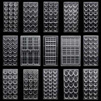 Barras de dulces de Chocolate Moldes 3D de policarbonato plástico forma de pastelería decoración de pasteles herramientas de pastelería Para Moldes Para Chocolate