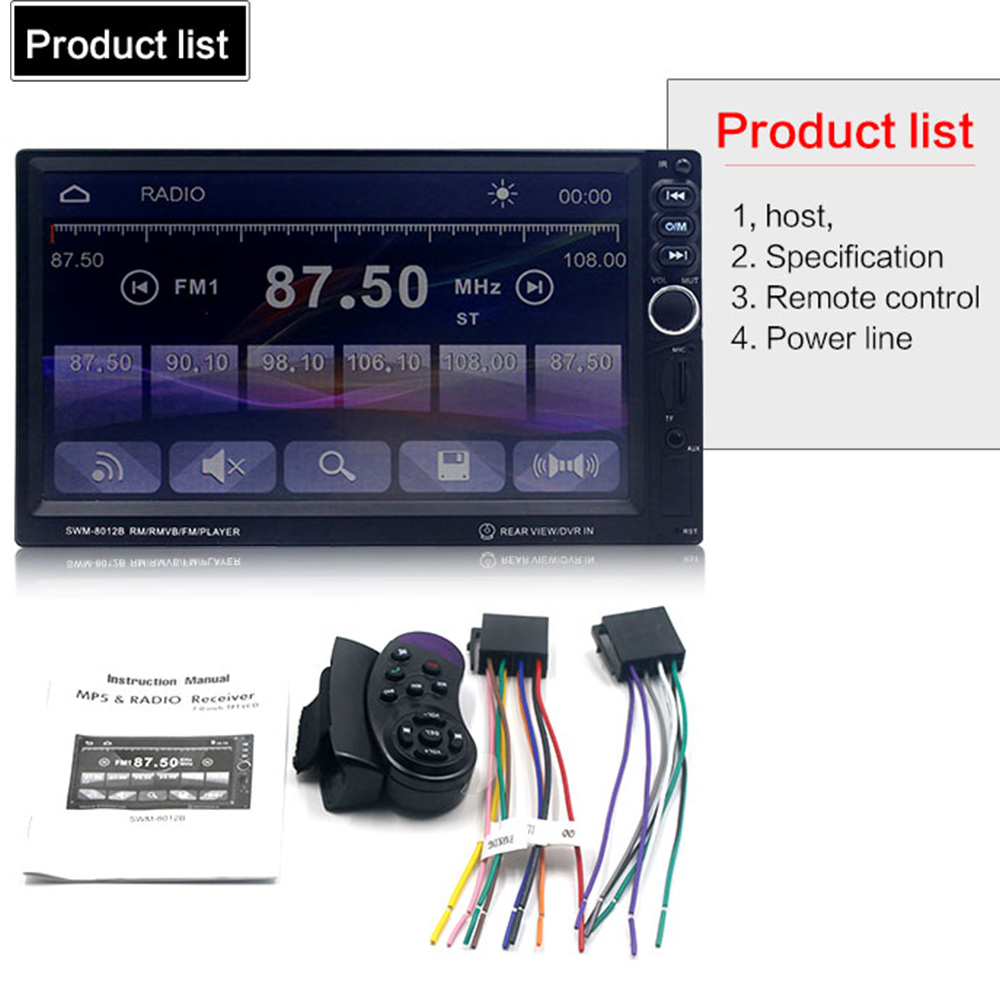 Vehemo Car MP5 7 Inches MP5 Player Hands Free Multi Function Universal For Nissan Toyota Mazda Ford Focus 2 3 Honda VW Golf Audi