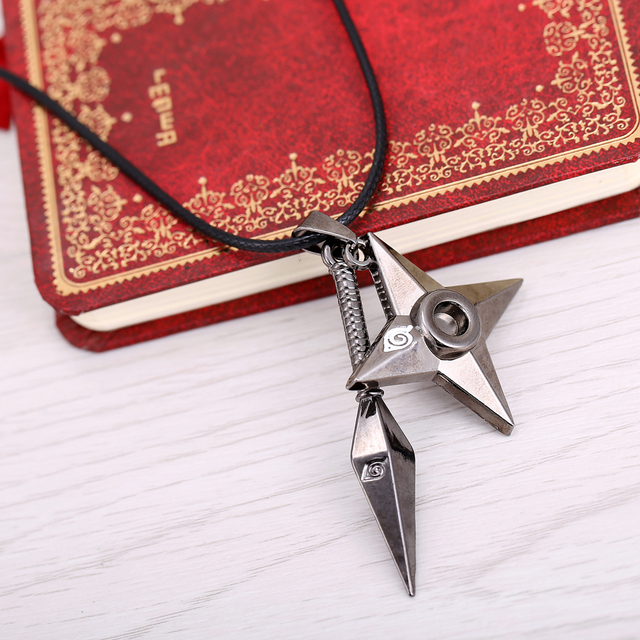 HSIC Hot Anime Naruto shuriken Ninjia Pendant&Necklace High Quality non-fading environmental Jewelry wonderful gift
