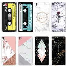 Soft TPU CD Cute Cases FOR Sony Xperia XZ3 X Z5 L1 XA1 XA2 Ultra XZ XZ1 XZS Plus Compact Case Silicone Coque Marble Cover fundas(China)