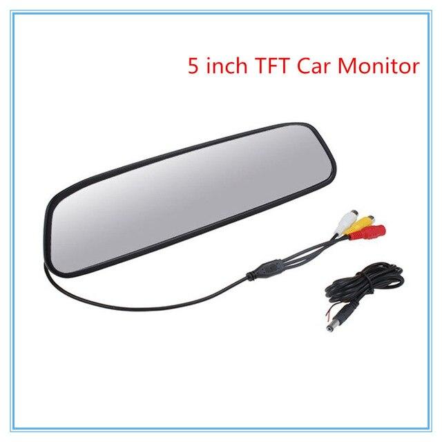 480x272 5 Дюймов Цветной TFT LCD Монитор Зеркала Автомобиля широкий Угол Обзора Заднего Вида Автомобиля Зеркало Монитор Вид Сзади Автомобиля Обратный монитор