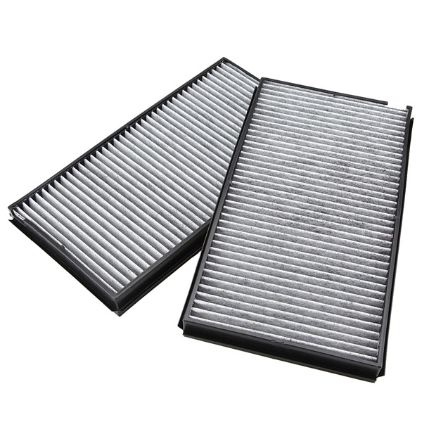 2pcs Cabin Air Pollen Filter Microfilter For BMW 5 Series E60 E61 M5 525i 530i 535i brand new for bmw e61 air suspension spring bag touring wagon 525i 528i 530i 535i 545i 37126765602 37126765603 2003 2010