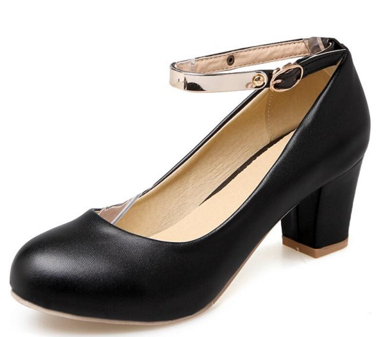 e7dd80b4555acb La pink Femmes Pompes Chunky Mujer Zapatos white Hauts Feminino Talons  Femme Chaussures À Dames P170529 ...