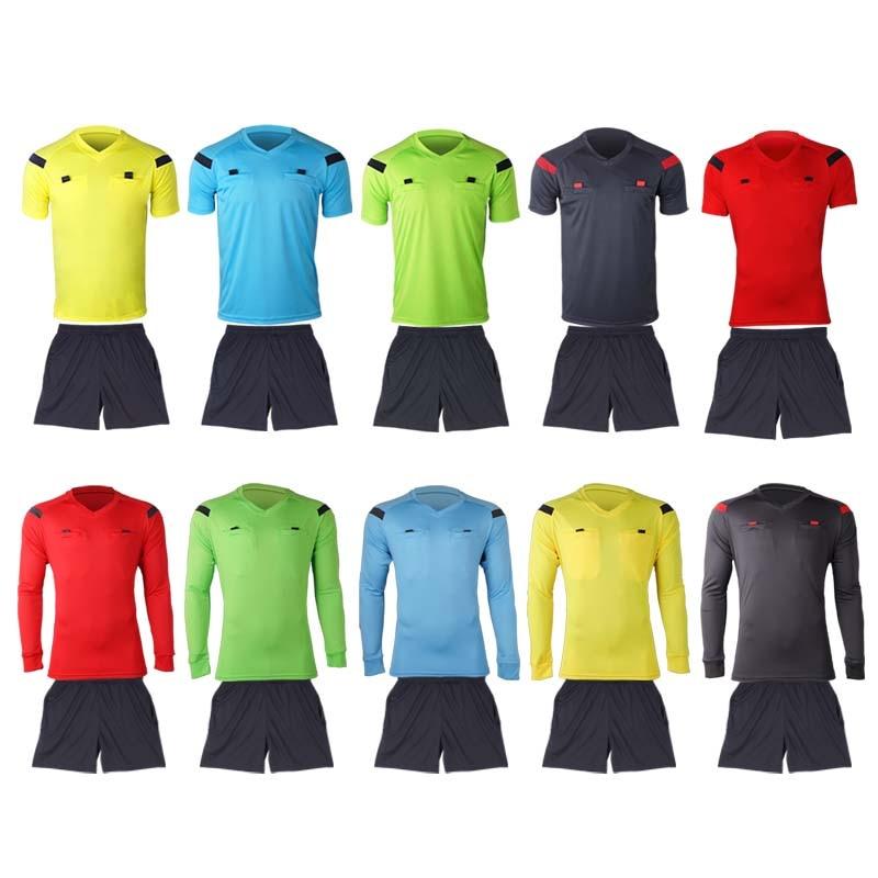 Shinestone football professional mens soccer referee uniform thai referee  new designs jersey sets referee soccer tracksuits 2644650d0