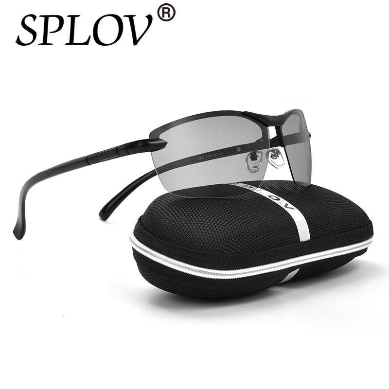 2017 Day Night Brand New Designer Photochromic Sunglasses Men font b Fashion b font Discoloration Driving