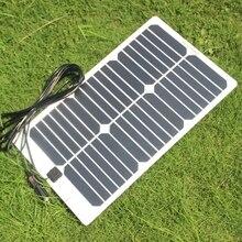 Buheshui полугибкий sunpower 20 Вт 18 В Панели солнечные Зарядное устройство для 18 В автомобилей Лодка Двигатель Батарея Зарядное устройство DIY солнечный Системы 2 шт./лот