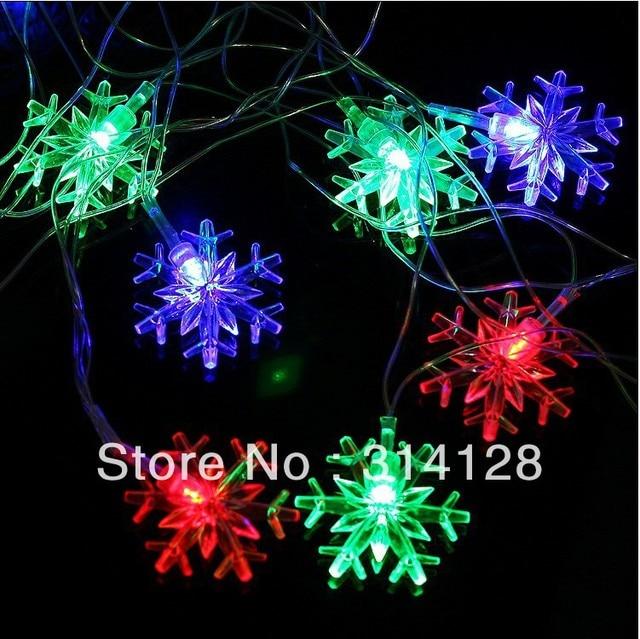 10m/SET 100LED 110v/220v snowflake LED Light Strings for christmas decoration,wedding,party