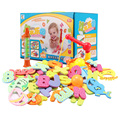 New Bathroom Baby Fishing Tennis Eva Material Foam Numbers and Alphabet Cognitive Bath Toys