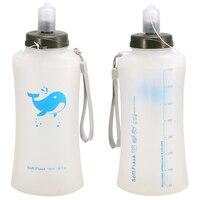 2 pacote 750ml tpu ampla abertura garrafa de água reutilizável dobrável leve macio hidratação balão para esportes ao ar livre ginásio viajar|null| |  -