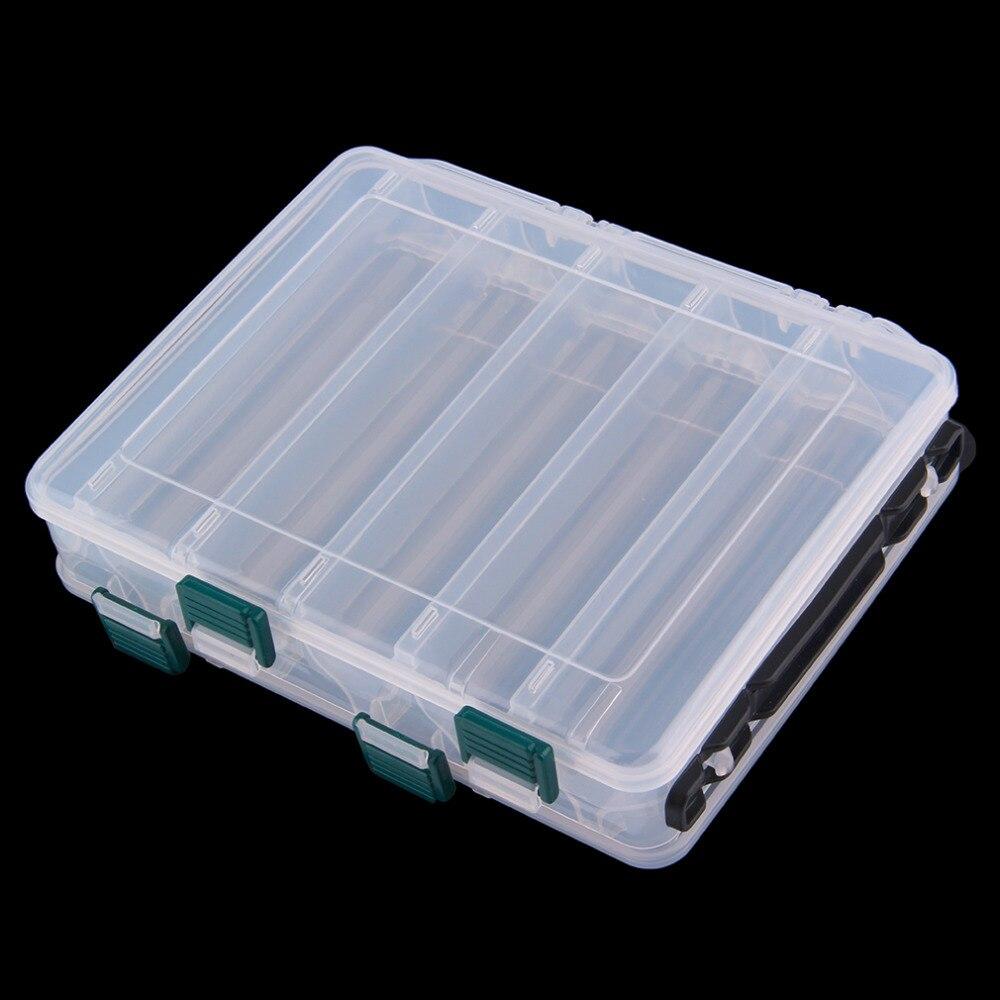 10 compartimentos de doble cara Señuelos de Pesca aparejos anzuelos cebos caja de almacenamiento nuevo