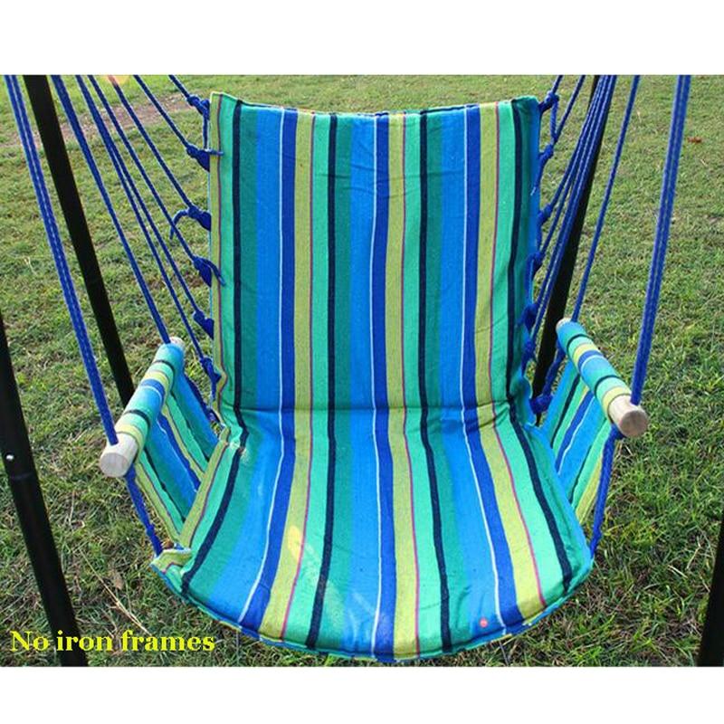 Stripe Garden Hammock Camping Kida Furniture Outdoor Indoor Hanging Chair Swing Chair Bedroom Single-person Dorm Chari Bed