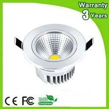 (50PCS/Lot) 3 Years Warranty 5W 7W 12W 15W 30W LED Downlight COB Down Light Dimmable Recessed Ceiling Spotlight Bulb