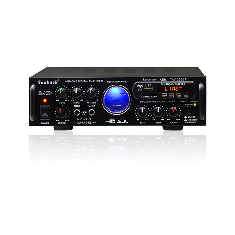 Hifi Bluetooth Us 65 43 19 Off Sunbuck 2 Channel Hifi Bluetooth Stereo Av Amplifier Home Theater Audio Radio Bluetooth Professional Car Amplifier 12v 220v In