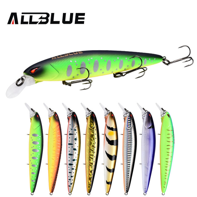 Best Offers ALLBLUE JINBE 110SP Silent Wobbler Fishing Lure 110mm 18.5g Rolling Jerkbait Minnow Unique Lip Bass Pike Bait Fishing Tackle