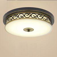 Estilo americano lâmpada do teto varanda quarto lâmpada sala de estar retro estilo rústico conduziu a lâmpada do teto