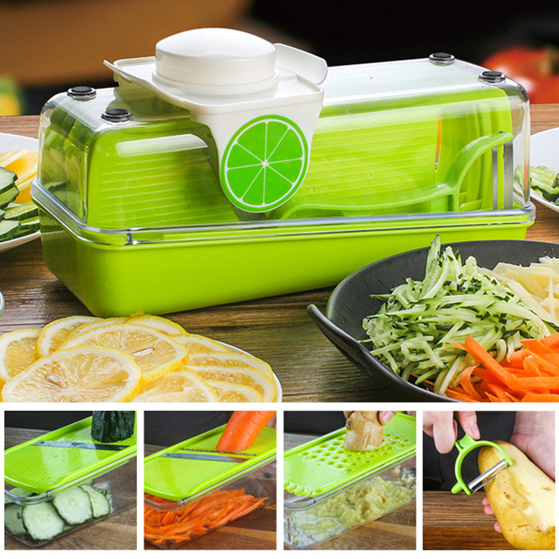 Manual Vegetables Cutter Adjustable Mandoline Slicer Grater Fruit <font><b>Multifunctional</b></font> <font><b>Kitchen</b></font> <font><b>Tools</b></font> <font><b>Food</b></font> <font><b>Chopper</b></font> Cheese Cutter image