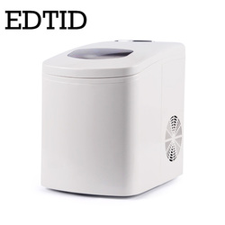 EDTID Automático Portátil 15 kg/24 H Ice Maker bala rodada bloco de gelo que faz a máquina para a família do Agregado Familiar pequeno bar café DA UE