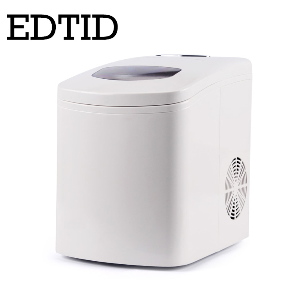 EDTID Portable Automatic 15kg/24H Ice Maker Household bullet round ice block making machine for family small bar coffee shop EU