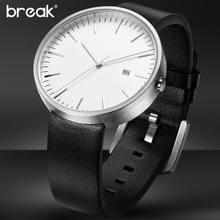 2016 BREAK top luxury brand leather strap fashion causal dress business quartz wristwatches creative gift watch for men women