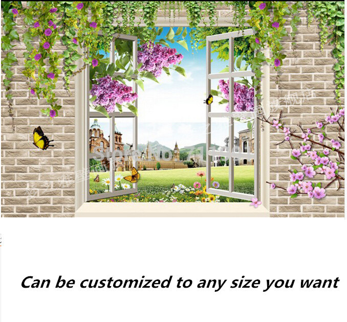 Free shipping custom- modern 3D mural bedroom living room TV backdrop wallpaper 3D flower vine landscape free shipping 3d personality wallpaper sofa tv coffee house bar backdrop living room bedroom bathrom wallpaper mural