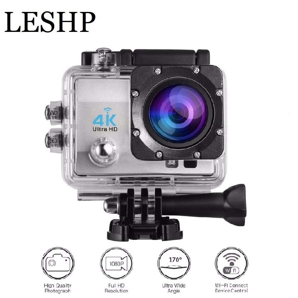 Action Camera Remote Ultra HD 4K WiFi 1080P LCD DV Sport Camera Waterproof Outdoor videos record Monitor 170 Degree Wide angle цена 2017