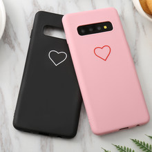 Cute 3D Silicone Love Heart Case For Samsung Galaxy A5 A8 A6 Plus J2 Pro J4 J6 Plus J8 2018 M20 S10E S10 lite J3 J5 J7 2017(China)