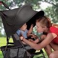 Alta calidad del cochecito de bebé sombrilla toldo anti-ultravioleta cubierta para la lluvia cochecito plegable accesorios poussette