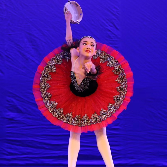 9366637f75 Black Velvet Bodice With Red Tulle Pre Professional Ballet Tutu Pancake  Tutu Esmeralda Variation Ballet Tutu