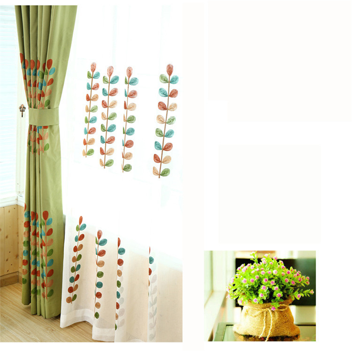 Scandinavian Children S Cotton Embroidered Curtains Custom Shade Cloth Finish Korean Curtain Garden Windows And French In From Home