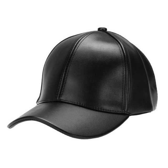 Unisex Solid Color Baseball Cap Hip Hop Caps Leather Sun Hat Snapback Hats 2018 New Men Womens Outdoor  Adjustable PU Hat