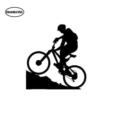 Виниловая наклейка HotMeiNi на велосипед, для экстремальных видов спорта, для мальчиков, на окно, бампер, ноутбук, водонепроницаемая, 11*11,9 см
