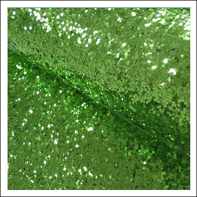 Christmas Green Wallpaper Classic Chunky PU Wall Paper Glitter Fabric For Living Room
