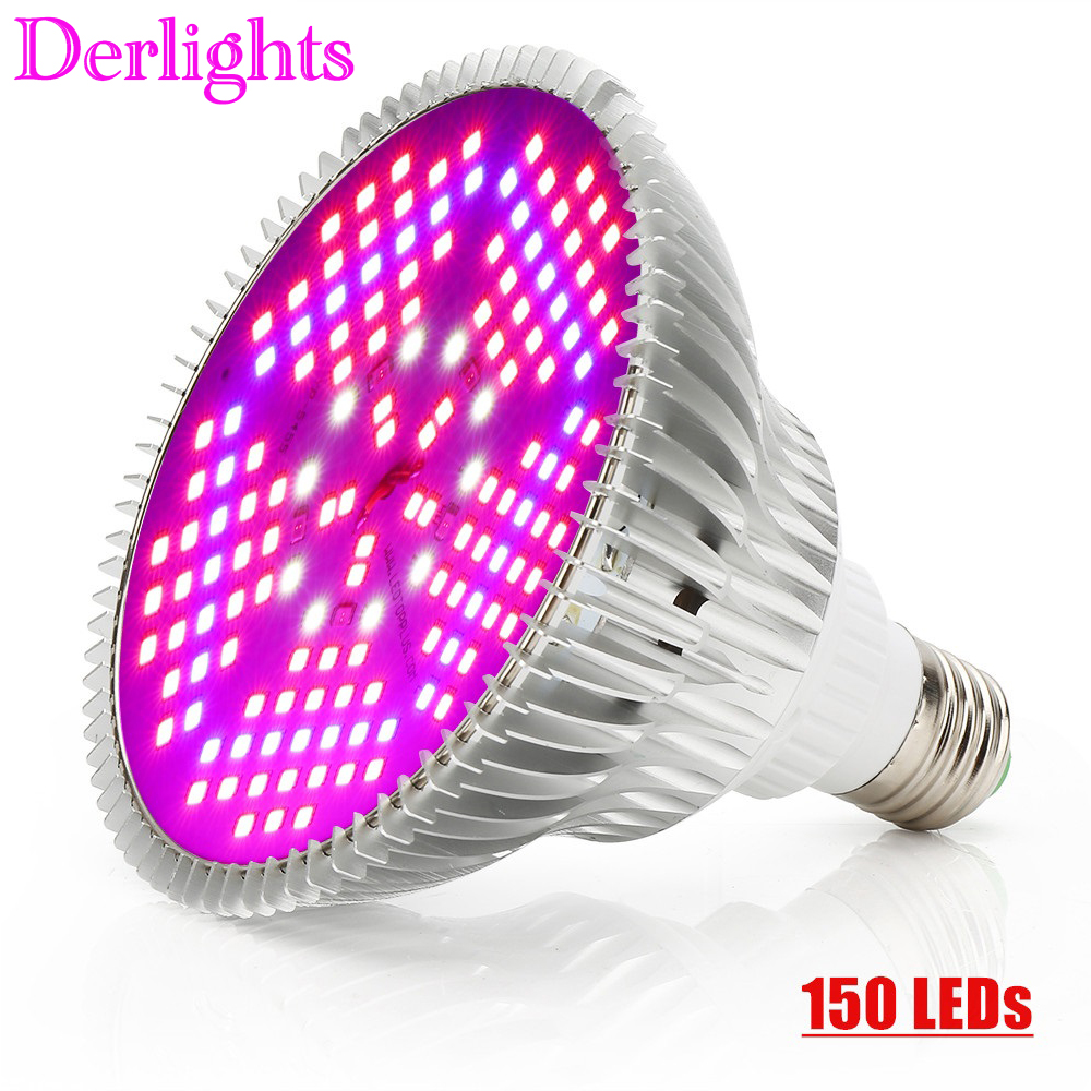 150 LEDs Grow Light Full Spectrum 100W E27 AC85~265V LED Plant Lamp Indoor Growth LED Bulb For Flower Veg Greenhouse Tent