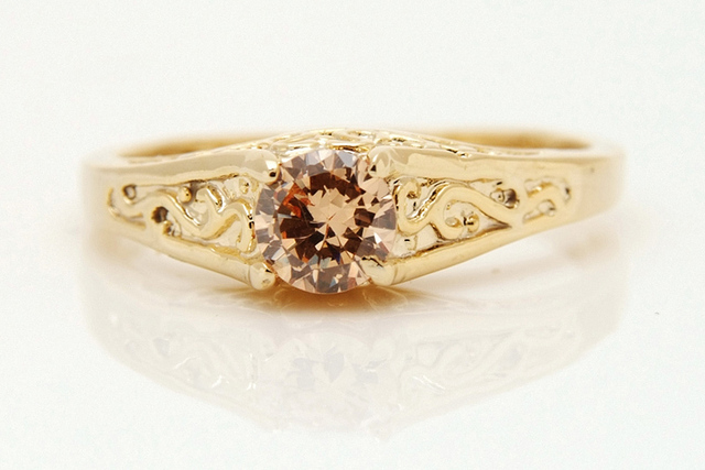Pretty 10Kt Yellow Gold Filled Citrine Fashion Design Gold Rings Sparkling Engagement Ring Trendy Rings For Women P87 Size7.5