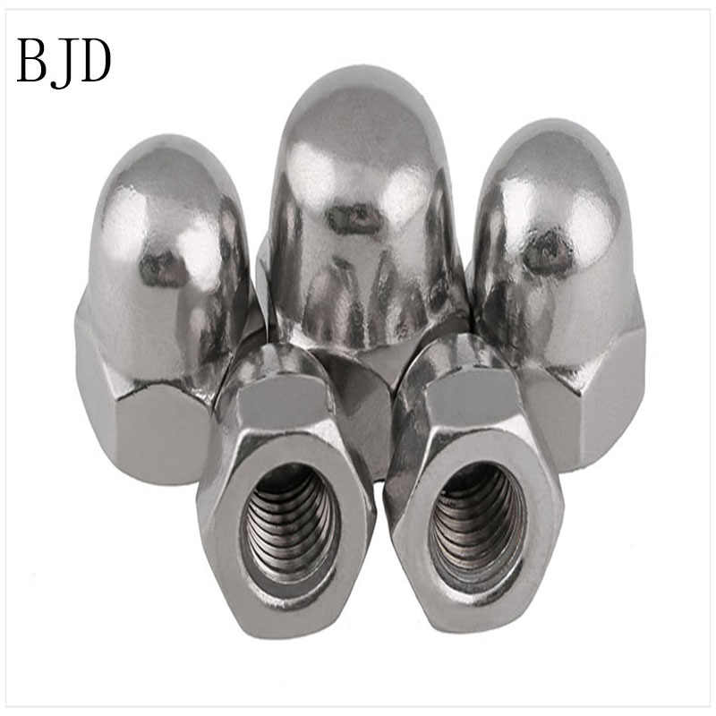 100Pcs M3 nut 3mm stainless steel cover nut decorative nut suitable for short screws cap nuts