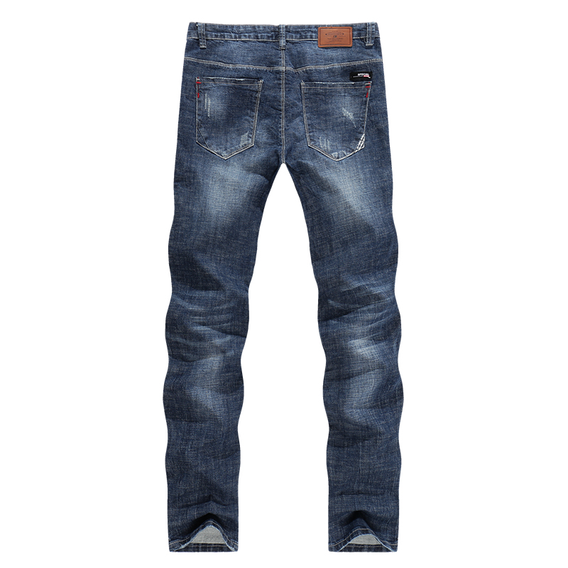 KSTUN Mens Biker Jeans Ripped Summer Slim Fit Straight Elasticity Blue Street Wear Male Trousers Long Jeans Men Motocycle roupas 10