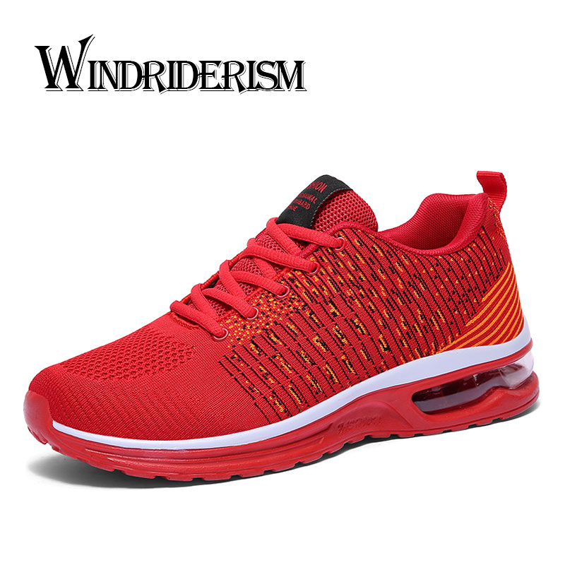 WINDRIDERISM Nouvelle Arrivée Coussin D'air Hommes Sneakers Lace Up Printemps Mode Hommes Casual Chaussures Flyknit Amortissement Zapatos Para Correr