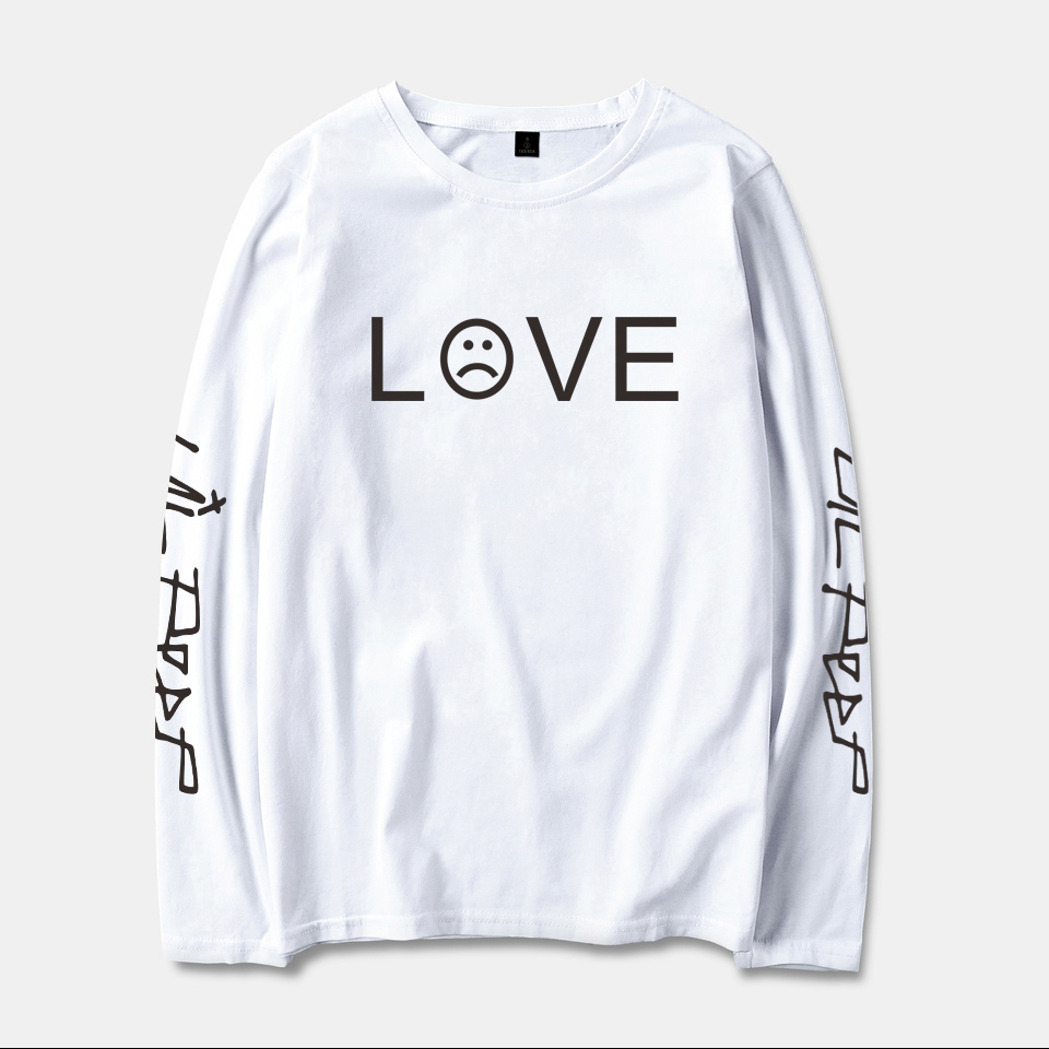 Trendy Lil Peep R.I.P. LOVE Pattern Design Men/Women T-Shirt Spring Cotton Personality Hipster Unisex 4Colour Long Sleeves Tops