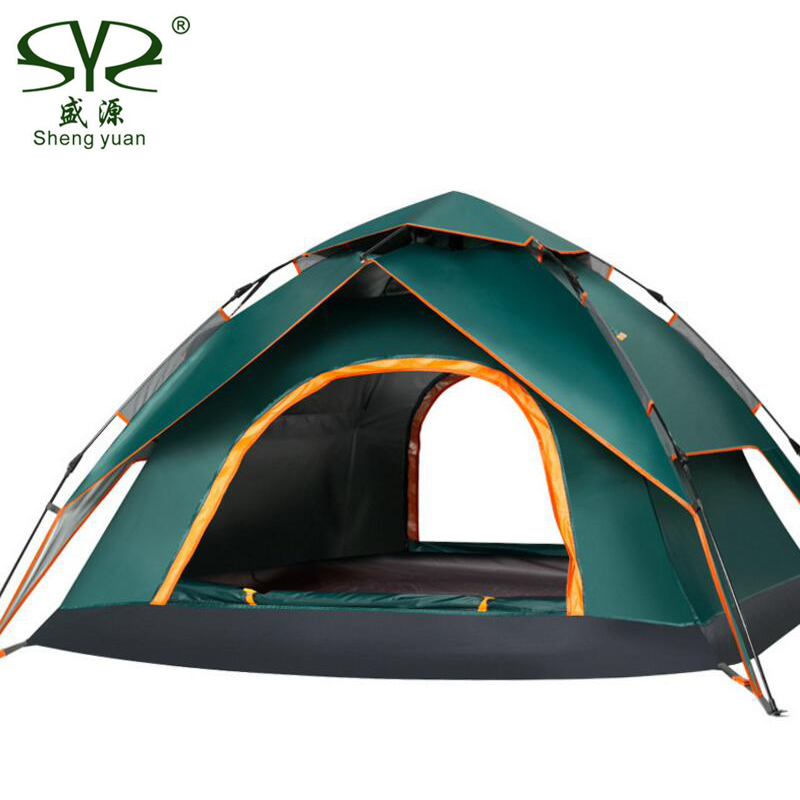 3 Person Tourist Automatic Tents Outdoor Camping Tent Awning Waterproof Anti-UV Quick Opening Multifunction Beach Gazebo Tent eglo