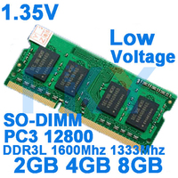 1 35V Low Voltage Memory DDR3 DDR3L Ram 1600Mhz 2GB 4GB 8GB For Laptop Notebook Sodimm