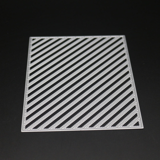 Rainbow Stripe Background Metal Steel Cutting Die Embossing Template