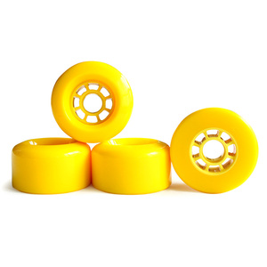 Image 2 - 4pcs Electrical Skateboard Wheel  83mm 90mm 97mm Longboard wheel SHR78A PU Wheels Big Soft Wheels Resistant PU Skateboard Wheels